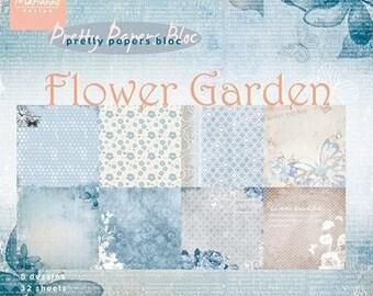 32 paper 15 x 15 cm Marianne Design FLOWER GARDEN