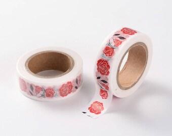 Washi Tape, Masking Tape, tape adhesive Scrapbook ROSE Red