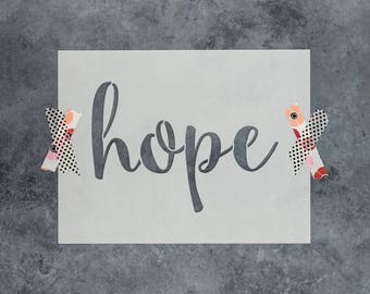 """Hope Stencil - Reusable DIY Craft Stencils of the Word """"Hope"""""""