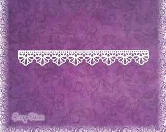"""Découpe scrapbooking """"Frise / bordure dentelle arrondie"""" embellissement die cut 32 couleurs disponibles (Ref.0457)"""