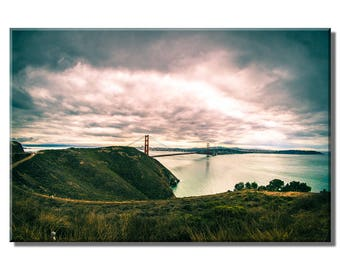 Golden Gate Bridge Panorama - canvas/poster/mounted print