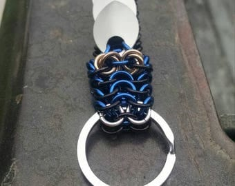 Black and Blue Dragon Keychain
