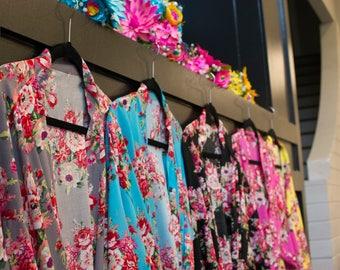 Set of 7 Bridesmaid Robes, Bridesmaids Gift, Robes for Bridesmaids, Gift for Bridesmaids, Getting Ready Robes, Coral Bridal Party Robes