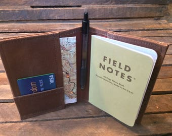 Waxed Canvas Field Notes Cover, Field Notes Wallet, Field Notes Case, Notebook Cover, Fieldnotes Cover, Fieldnotes Wallet, Fieldnotes Case