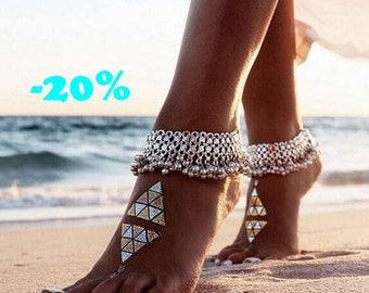 SUMMER SALE / / / Summer bells ankle Bracelet / / / Bohemian gypsy ethnic anklet