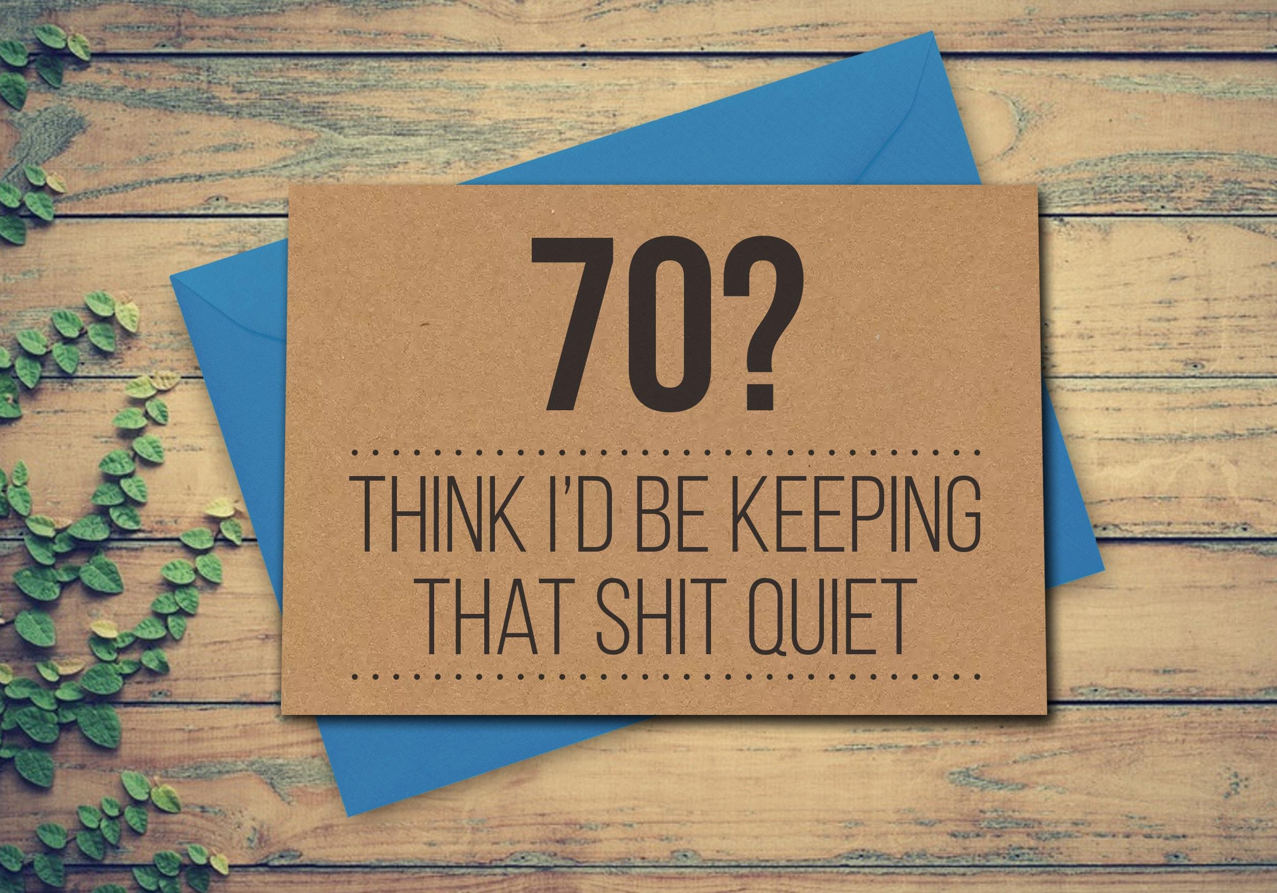 70th Birthday Card Funny 70th Card 70 Card Greeting Card – Funny 70th Birthday Cards