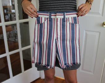 Vintage 50's Billy The Kid Striped Kid's Shorts