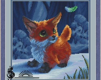 Fox with feather
