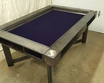 Hickory Game Table w/ Cupholders