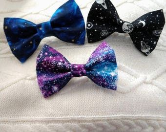Outer Space Dog Bow Tie