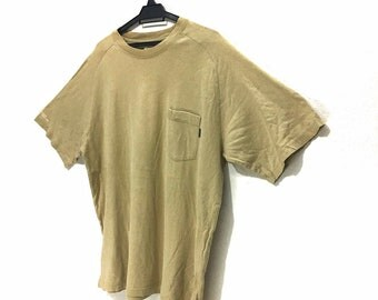 Vintage WTAPS Visual Uparmored@ Solid Pocket T-Shirts Made In Japan Size XL Harajuku
