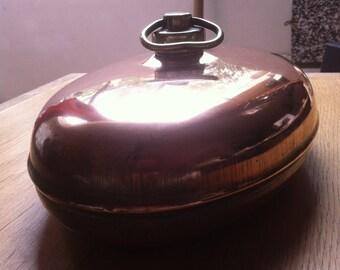 Vintage oval copper