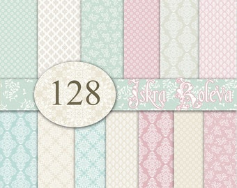 Wedding Digital Paper Lace Scrapbook Stationery Supplies Planner Stickers