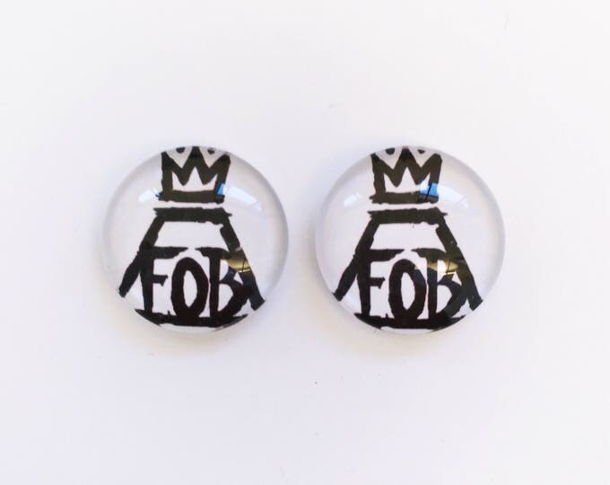 The 'Fall Out Boy' Glass Earring Studs