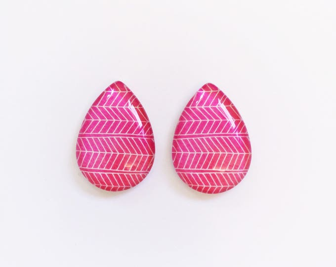 The 'Monica' Glass Statement Earring Studs