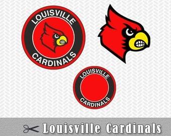 SVG Louisville Cardinals Logo Vector Cut File Silhouette Cameo Cricut Design Stencil Vinyl Decal Heat Transfer Tshirt Iron on Scrapbooking