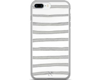 Grey Stripes iPhone Case iphone 6 case, iphone 7 case, iPhone 8 case, iphone 7 plus case, iPhone X case, iphone 8 plus