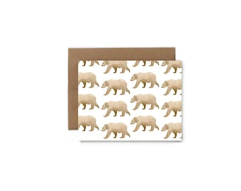 Brown Bear Greeting Card - A2