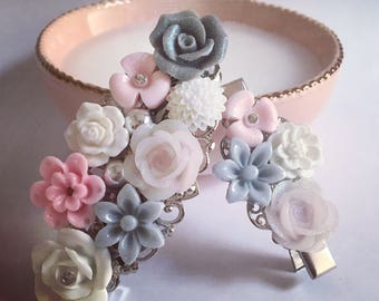 French barrette for MOM and clip set has the baby girl!