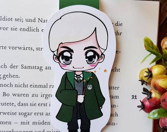 "Magnetic bookmarks ""Draco Malfoy"" - inspired by Harry Potter by J.K. Rowling."