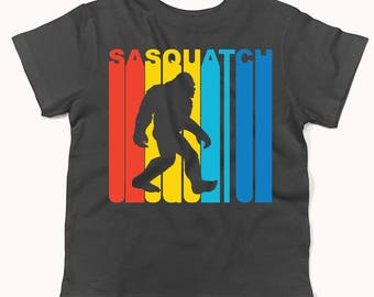 Retro 1970's Style Sasquatch Silhouette Bigfoot Infant / Toddler T-Shirt