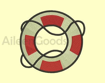 Life Preserver Embroidery  design 8 Size  INSTANT download machine embroidery