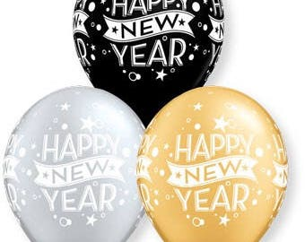 Happy New Year Balloons, HNY  Balloons