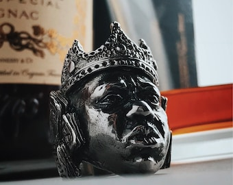 The Notorious B.I.G. aka Biggie Smalls -Handcrafted Sterling Silver Ring