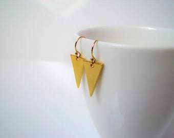 Earrings are made of plated 14 k II II jewelry everyday geometric jewelry II jewelry gold