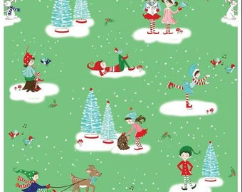 Pixie Noel Quilt Fabric by Riley Blake Designs