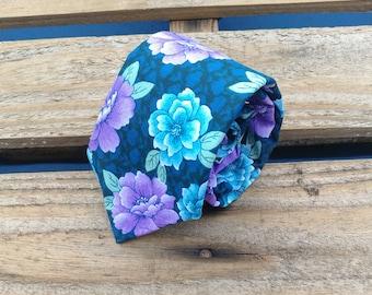 Purple and Blue Flower Necktie, Purple Flower Necktie, Blue Flower Necktie, Blue Necktie, Floral Necktie, Flower Necktie