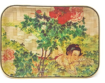 Hand-painted Bamboo Tray