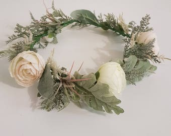 Floral crown headband - Wedding headband - Headband- Silk flowers - Artifical floral headband