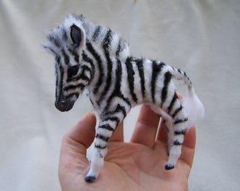 Ooak Dollhouse Miniature 1:12 scale Zebra Foal Baby by Malga