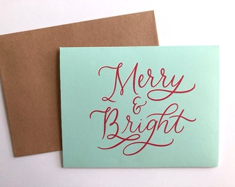 Merry & Bright - DIY Christmas card printable - DIY Christmas Cards - Christmas card printable - Christmas card download - Holiday card