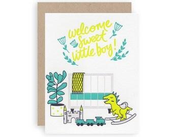 Boy Nursery - Letterpress Greeting Card