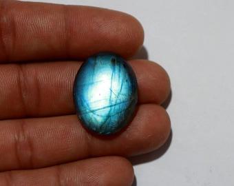 Natural Blue Fire Flash Labradorite, 1Pcs 30Cts. 27X20mm Oval Shape Smooth Hand cut polish Jewelry Making Handmade Gemstone