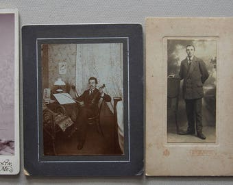 4 Vintage Portrait Photgraphs - 1910's