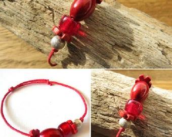 Waxed cotton bracelet 16262