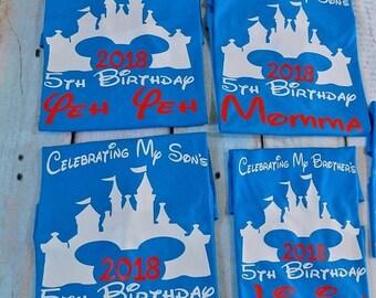 ON SALE Disney Family shirts, Sweet 16 shirts, Birthday shirts,Disney vacation shirts,disney customized shirt,disney Castle,disney palace, c