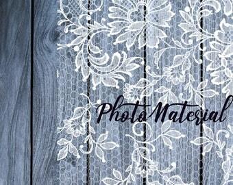 Vintage Lace clipart png overlay set Wedding borders Digital download Transparent PNg