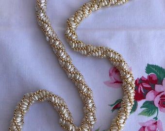 Vintage Hand Beaded Necklace