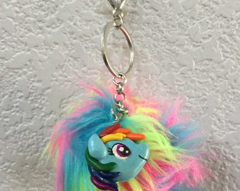 Rainbow Dash keychain