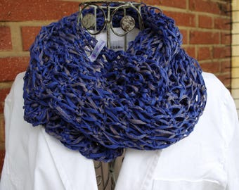 Cotton loop in 2 variants and blue tones