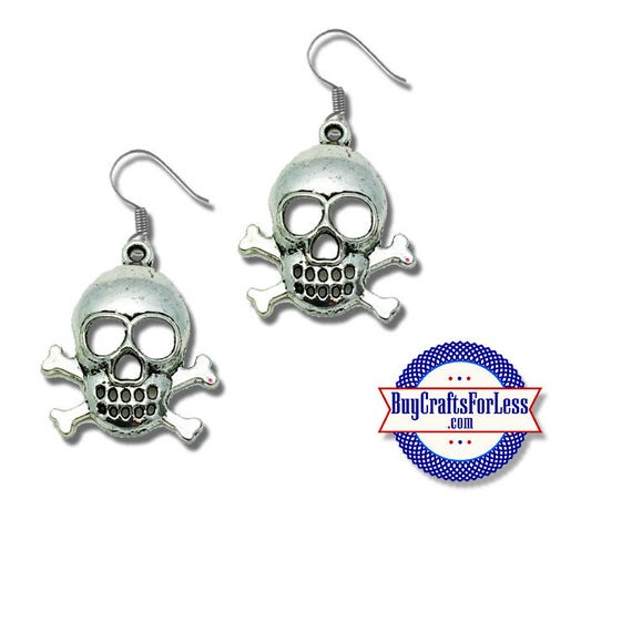 PIRATE Skull and Cross Bones Earrings - A  FAVORiTE! +FREE SHIPPING & Discounts*