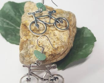 Bicycle Earrings/Bike Charm Earrings/Silver Bike/ Bike Jewelry/ Silver Bicycle Earrings/Cyclist Gift/Mountain Bike/Bike Rider/Bike Jewelry
