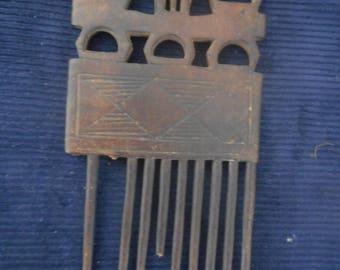 Antique African Ashanti comb