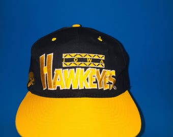 Vintage Iowa Hawkeyes SnapBack Hat Adjustable 1990s