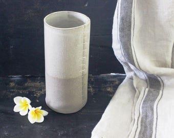 Ceramic Flower Vase, Pottery Vase, white gray ceramic vase, Ceramic Flower Pot, Modern Vase Flower, minimalist Flower Vase