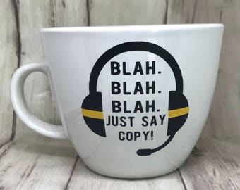 Thin Gold Line Dispatcher Ceramic Mug